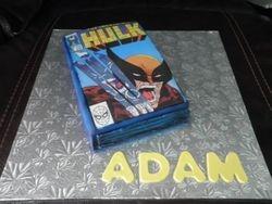 The Hulk & Wolverine Comic Book Birthday Cake