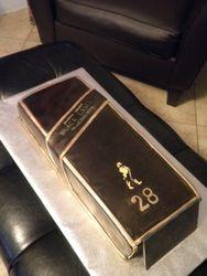 Johnny Walker Black Box Birthday Cake