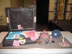 Louis Vuitton Suitcase w/ Accessories Wedding Cake