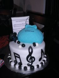 Music Inspired w/ Tiffany purse Birthday Cake