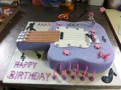 Guitar cake small