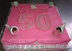50th Birthday cake pink