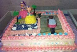 Hulla Girls Birthday Cake