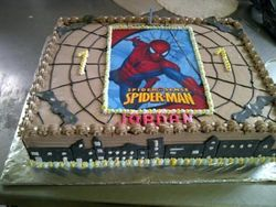 Spidermann Sheet cake