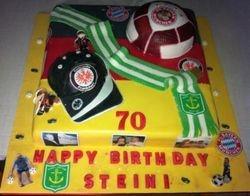 Bayern Muenchen, FC Stuttgart and Atlantis Soccer cake
