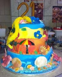 "Tropical Island Cake ""21st"""