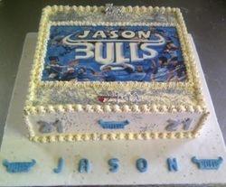 Blou bull cake