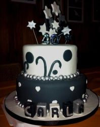Black and White with Stars 2tier