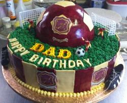 Eleven Arrows Soccer Cake