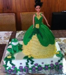 Princess Doll and Frog cake
