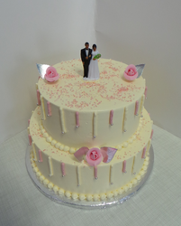 Butter Cream and light Sponge Wedding Cake