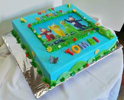 Teletubbies Themed Birthday Cake