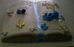 Bible cake for boy