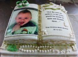 Bible themed cake  for christening