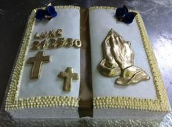 Bible themed cake  for baptism
