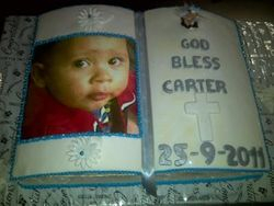 Bible Cake with edible picture