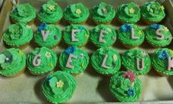 Tinkerbell cupcake with flowers