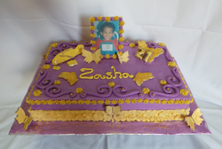 21st Butterfly Birthday Cake