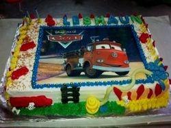 Firetruck edible Print Cake