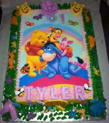 Winnie the Pooh Edible Print cake