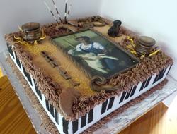 Farmer/Keyboard Themed Birthday Cake