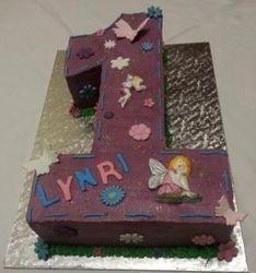 Nr 1 themed cake with fairies