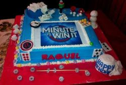 Minute to Win It Party Cake