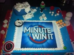 Minute to Win It Themed Party Cake