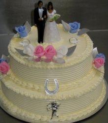 2 tier Butter cream wedding cake