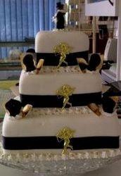 3 tier mini wedding cake (back)