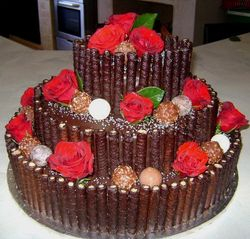 3 Tier Chocolate with wafers