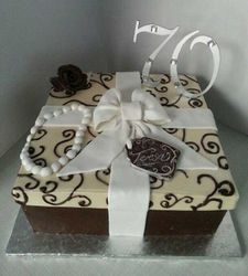 Chocolate Gift Box Birthday Cake