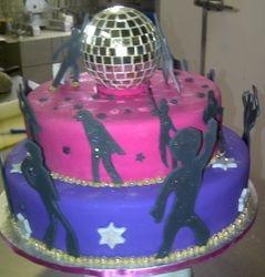 Disco-theme birthday Cake