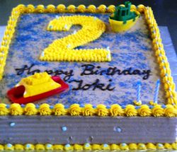2nd Birthday sheet cake