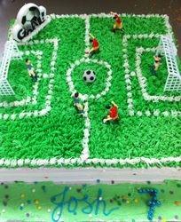 Soccertheme cake