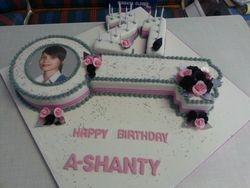 21st key themed birthday cake