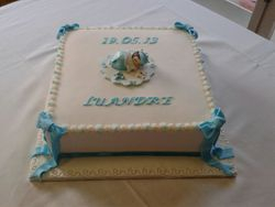 Christening themed cake
