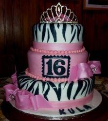 16th Birthday cake 2tier with Tiara