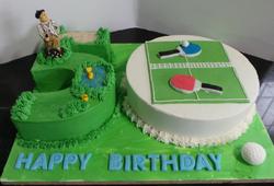 Golf/Table Tennis 50th Birthday Cake