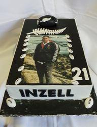 All Blacks Themed Rugby Cake
