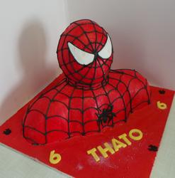 Spiderman Upper Body Cake