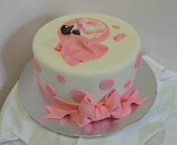 Pink Polka Dot Baby-Shower Cake