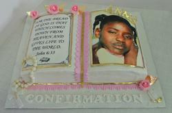 Girls Bible Confirmation Cake