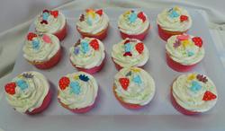 Smurf Themed Cupcakes