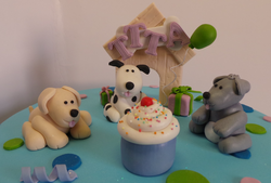 Fondant Doggy Cake Toppers