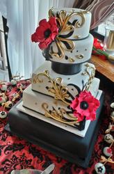 Oriental themed wedding cake