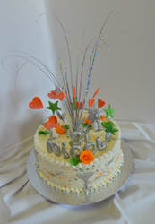 21st Pineapple fresh cream birthday cake