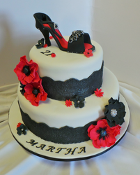21st High heel birthday cake