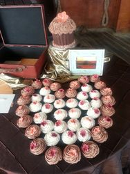 Brown and terracotta wedding cupcakes