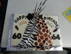 Africa themed sheetcake